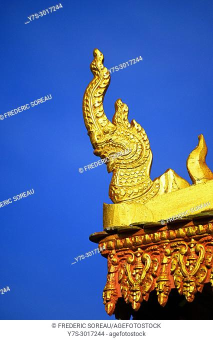 Detail of temple in Phnom Penh, Cambodia, South East Asia, Asia