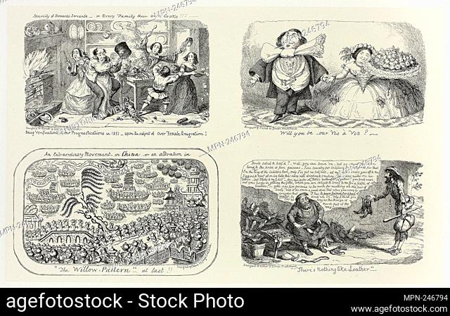 Scarcity of Domestic Services, or Every Family Their Own Cooks!!! from George Cruikshank's Steel Etchings to The Comic Almanacks: 1835-1853 (top left) - 1853