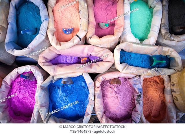 Pigments, Medina, Chefchaouen, Morocco