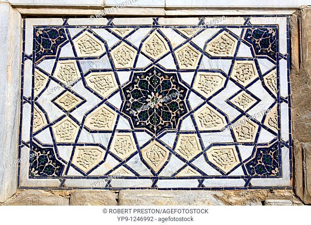 Uzbekistan - Samarkand - architectural detail of the Bibi-Khanym Mosque