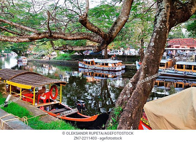 Alappuzha canal, Kerala, India