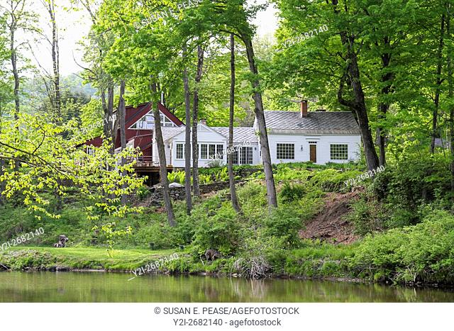 A home in the village of Green River, Guilford, Vermont, United States, North America. Editorial use only