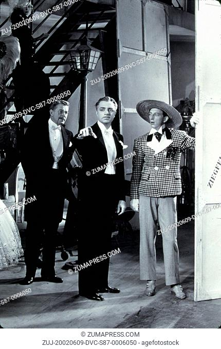 1936, Film Title: GREAT ZIEGFELD, Pictured: 1936, AWARDS - ACADEMY, BEST PICTURE, RAY BOLGER, WILLIAM POWELL, CAMP, HAT, CHEQUERED, TUXEDO, OSCAR RETRO