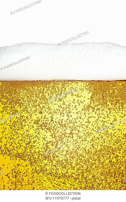 A glass of lager (detail)