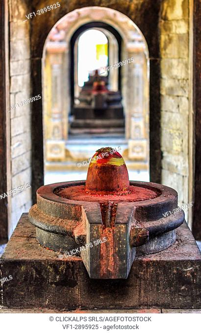 Lingam,a symbol of adoration for the Hindus,Pashupatinath Temple,Kathmandu,Nepal,Asia