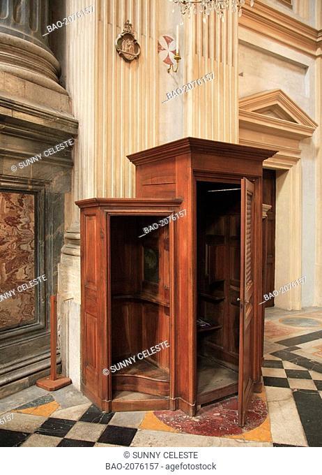 Confessional in the basilica Basilica di superga, Turin, Torino, Piemont, Italy