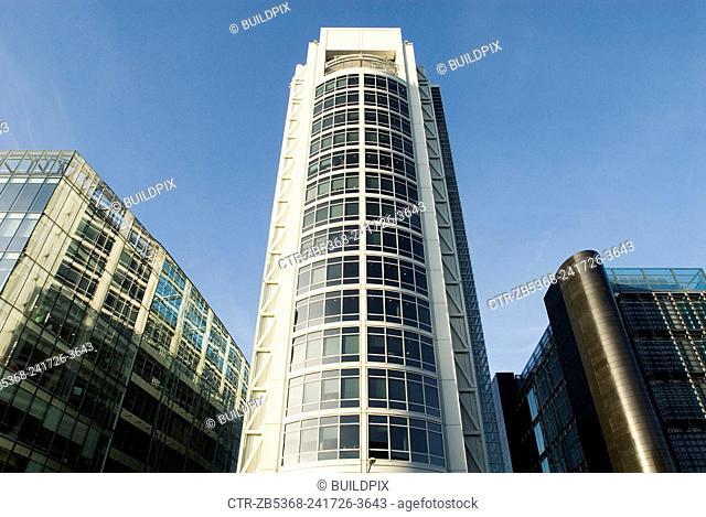 Modern office building, near Great Portland Street, London, UK