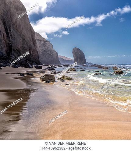 Spain, Europe, Fuerteventura, Canary Islands, Morro Jable, Playa Roque del Moro, landscape, summer, sea