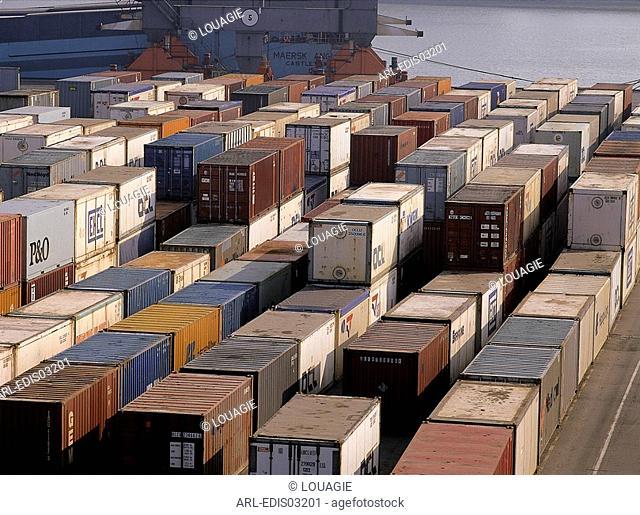 Containers in Zeebruges Belgium