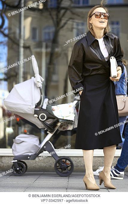 stylish woman, in Munich, Germany