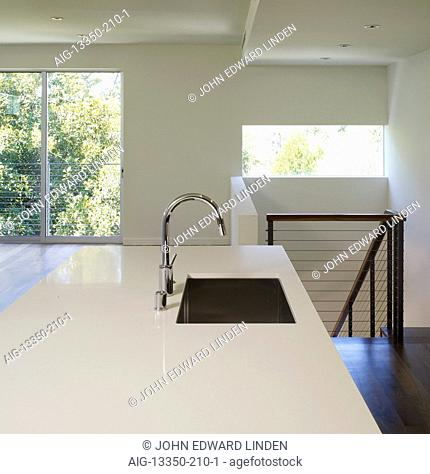 Unfurnished kitchen interior, Woodbridge 12 Condominiums, Studio City, Southern California, USA