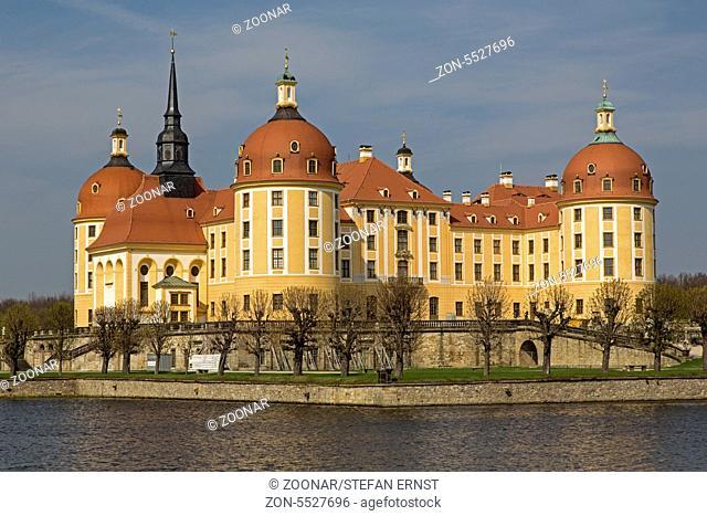 Schloss Moritzburg, Dresden, Sachsen, Deutschland, Europa / Castle Moritzburg, Dresden, Saxon, Germany, Europe