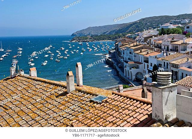 View of the Mediterranean town of Cadaques, Girona, Spain