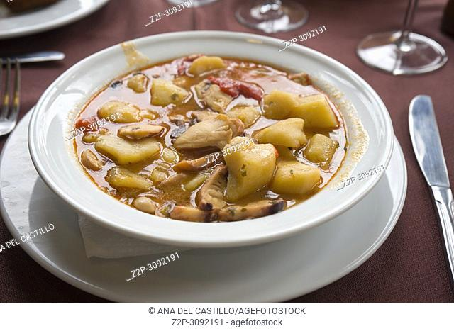 Cuttlefish and potato stew Spain