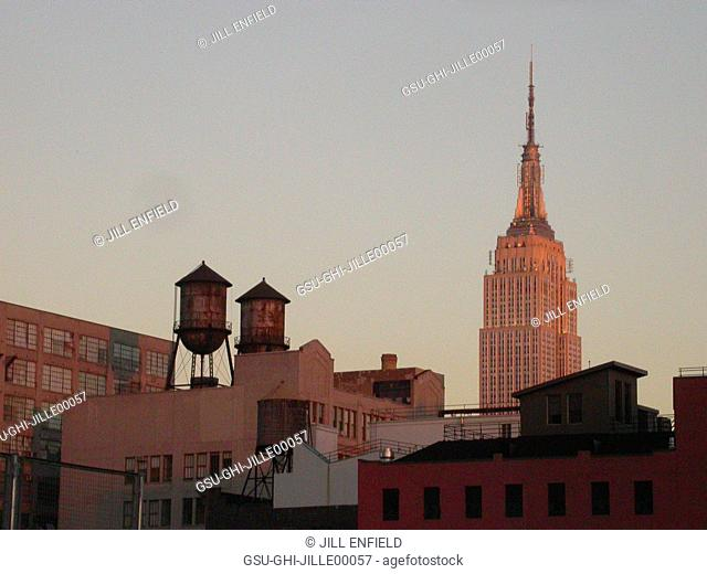 Cityscape With Empire State Building, New York City, USA