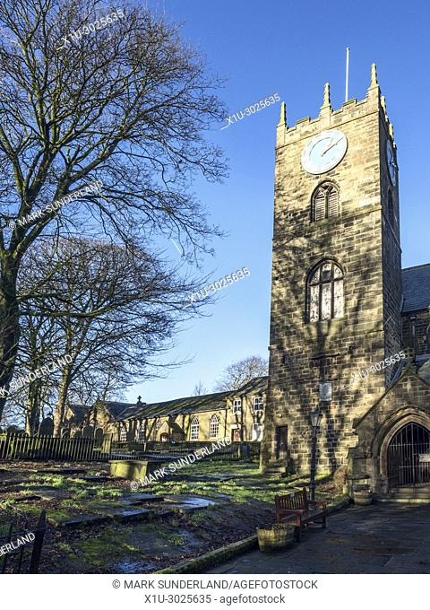 St Michael and All Angels Parish Church in Haworth West Yorkshire England