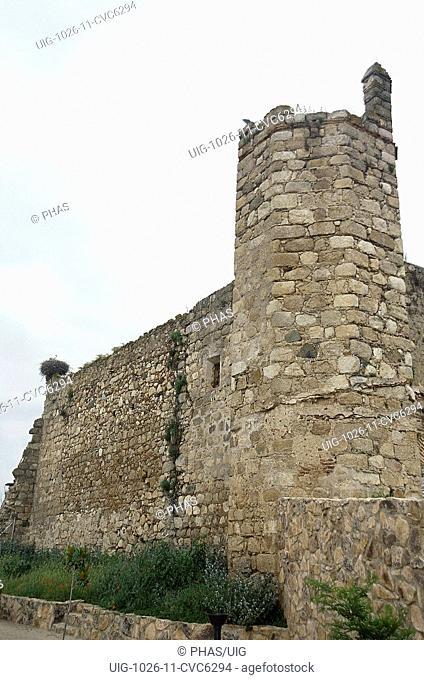 Castle of Higuera de Vargas or Coso Castle. Higuera de Vargas