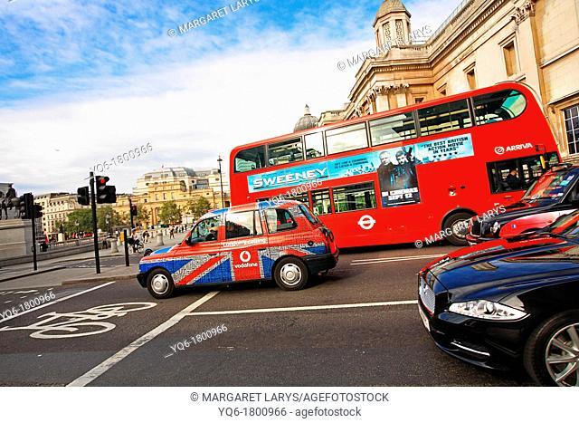 Street scene in London, UK