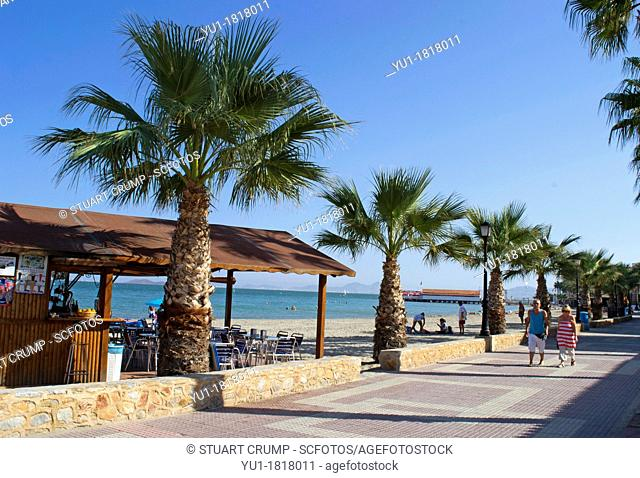 Beach Bar on the promenade at Los Alcazares in the region of Murcia, South Eastern Spain