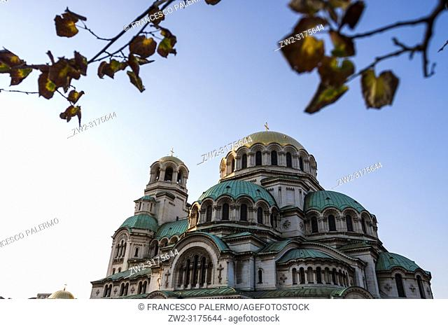 The St. Alexander Nevsky Cathedral in the historic Bulgarian capital. Sofia, Bulgaria