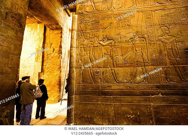 Tourists at Temple of Luxor, Luxor city, Egypt
