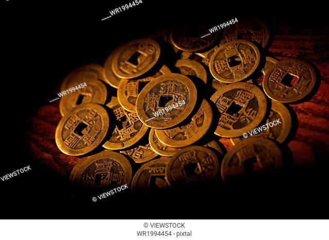 Still life copper Coin