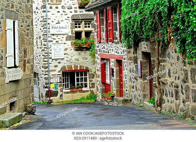 medieval architcture, Salers, Cantal Department, Auvergne, France