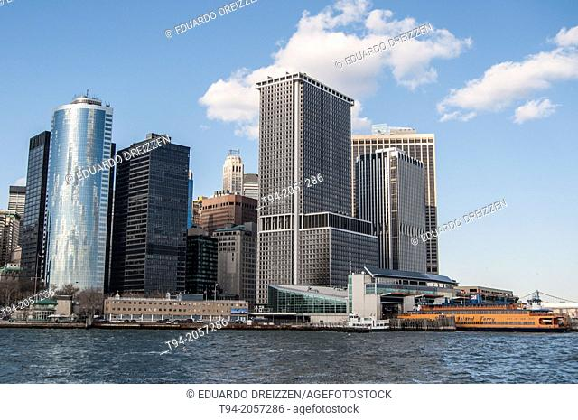 Staten Island Ferry dock at Battery Park, Lower Manhattan, New York City
