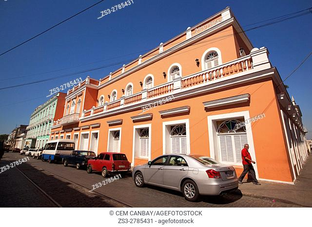 View to the colonial buildings at the historic center, Cienfuegos, Cuba, West Indies, Central America