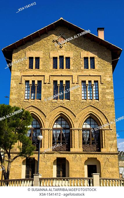 Side old building in Solsona. The building was built by the Claretian community of Solsona in the early 20th century as a seminary of the Congregation