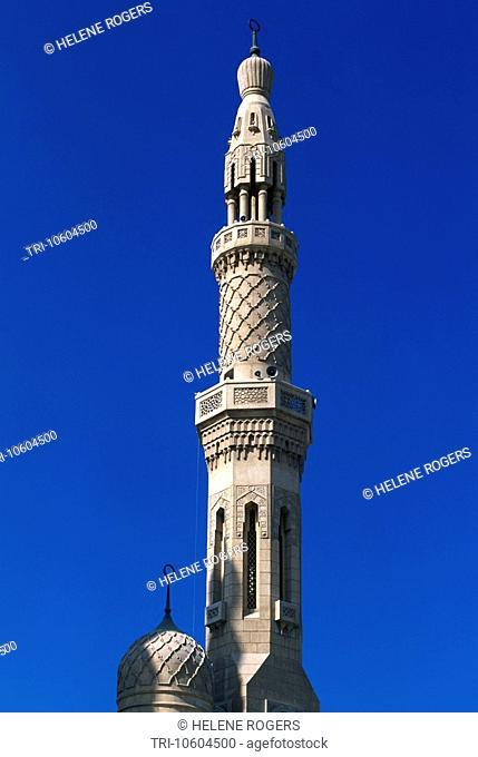 Dubai UAE Jumeira Mosque Minaret
