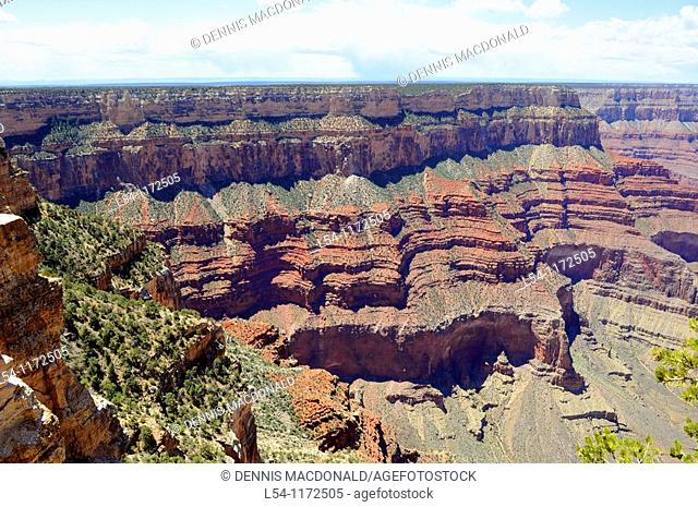 Bright Angel Outlook South Rim Grand Canyon National Park Arizona