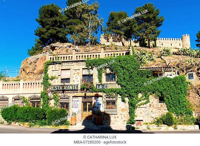 Spain, Toledo, restaurant at the eastern end of the Puente de Alcantara