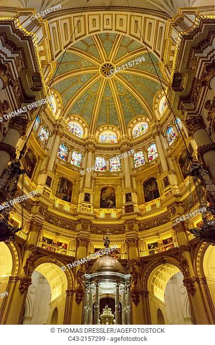 Central dome of the Cathedral in Granada, Granada province, Andalusia, Spain