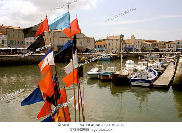 Harbour. Saint-Martin. Ile de Ré. Charente-Maritime. Poitou Charentes. France