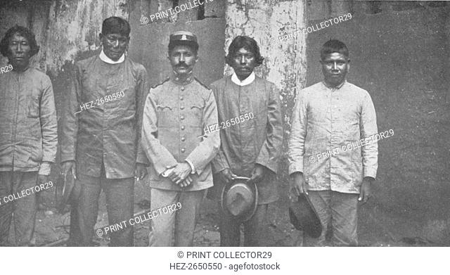 'Tymbiras Indians of the State of Maranhao. Lt. Pedro Dantas and his Interpreters', 1914. Artist: Unknown
