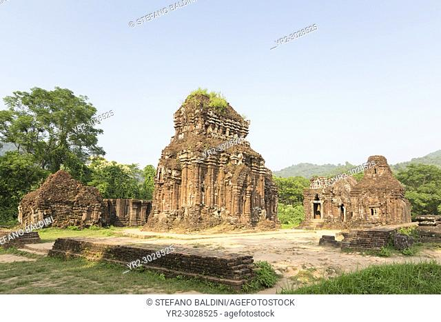 Temple ruins of the My Son complex near Hoi An in Vietnam