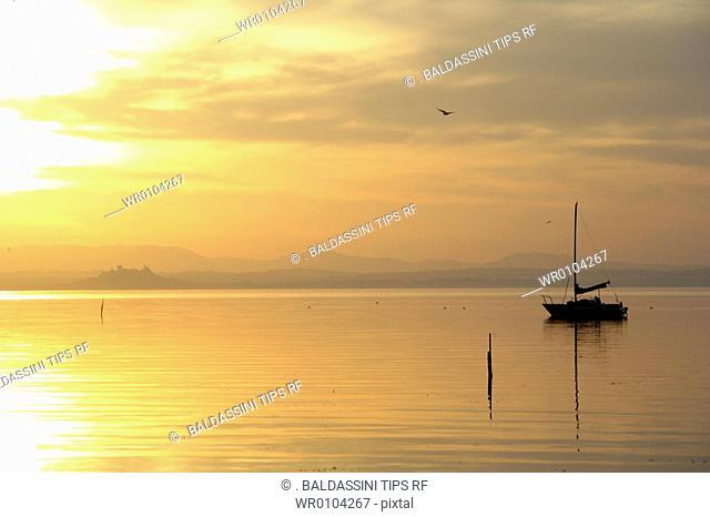 Italy, Umbria, Trasimeno Lake, San Feliciano