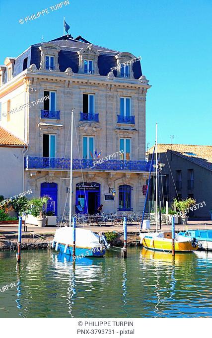 France, Marseillan.France, Marseillan. The Harbor