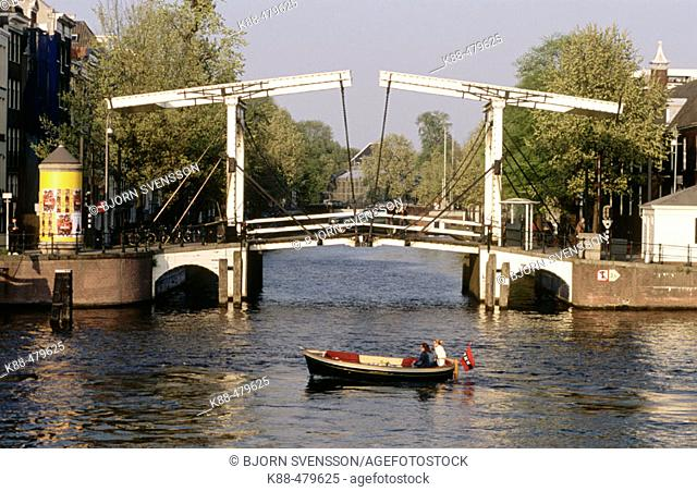 Bridge on Herengracht canal, Amsterdam, Netherlands