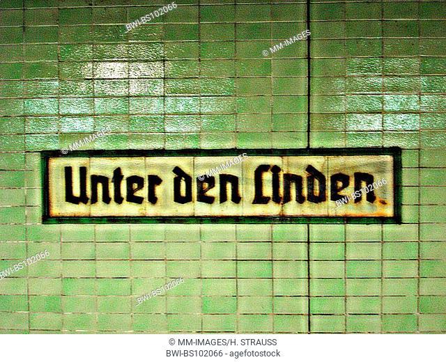 underground station Unter den Linden, Germany, Berlin