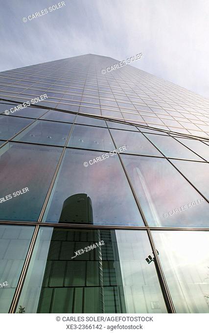 Skyscraper. Cuatro Torres Business Area (Four Towers Business Area). Paseo de la Castellana. Madrid. Spain