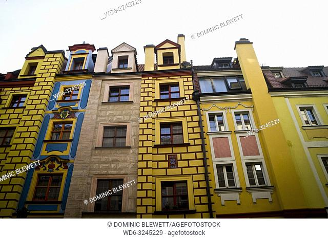 Colourful houses in Wroclaw