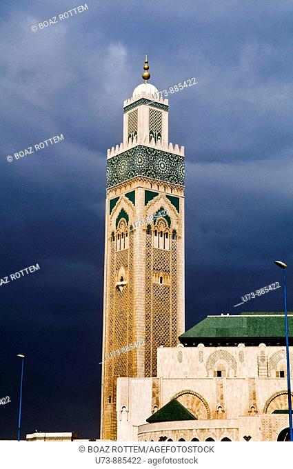 Hassan II mosque is the world's third largest mosque  The Mosque was open in 1993 for the former king 60th birthday