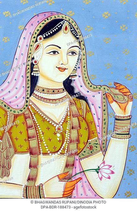 miniature painting of jodha bai