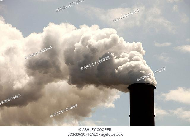 Emissions from the Bluescope steel works at Port Kembla, Wollongong, Australia