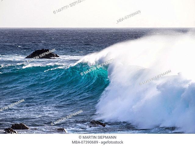 Sea wave, Valle Gran Rey, La Gomera, Canary Islands, Canary Islands, Spain
