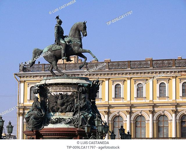 Nicholas I. Monument, St. Isaac's Square, St. Petersburg, Russia