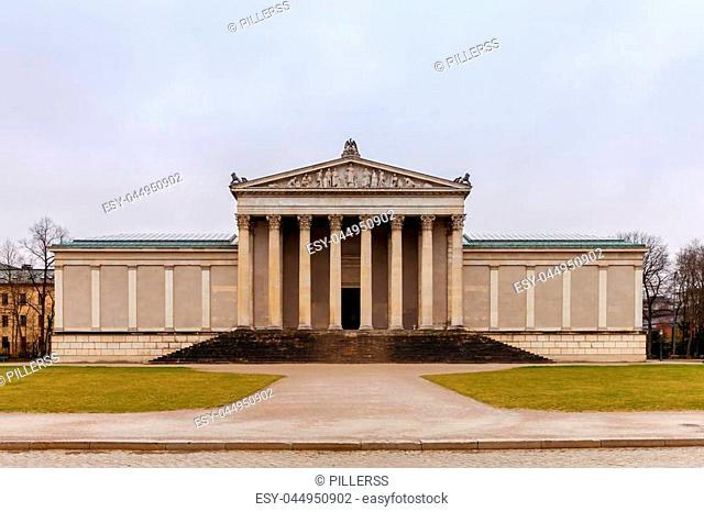 The building of the Glyptotek in the royal square. Munich. Germany. Bavaria