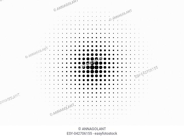 Abstract futuristic halftone pattern. Comic background. Dotted backdrop with circles, dots, point small scale. Design element for web banners, posters, cards